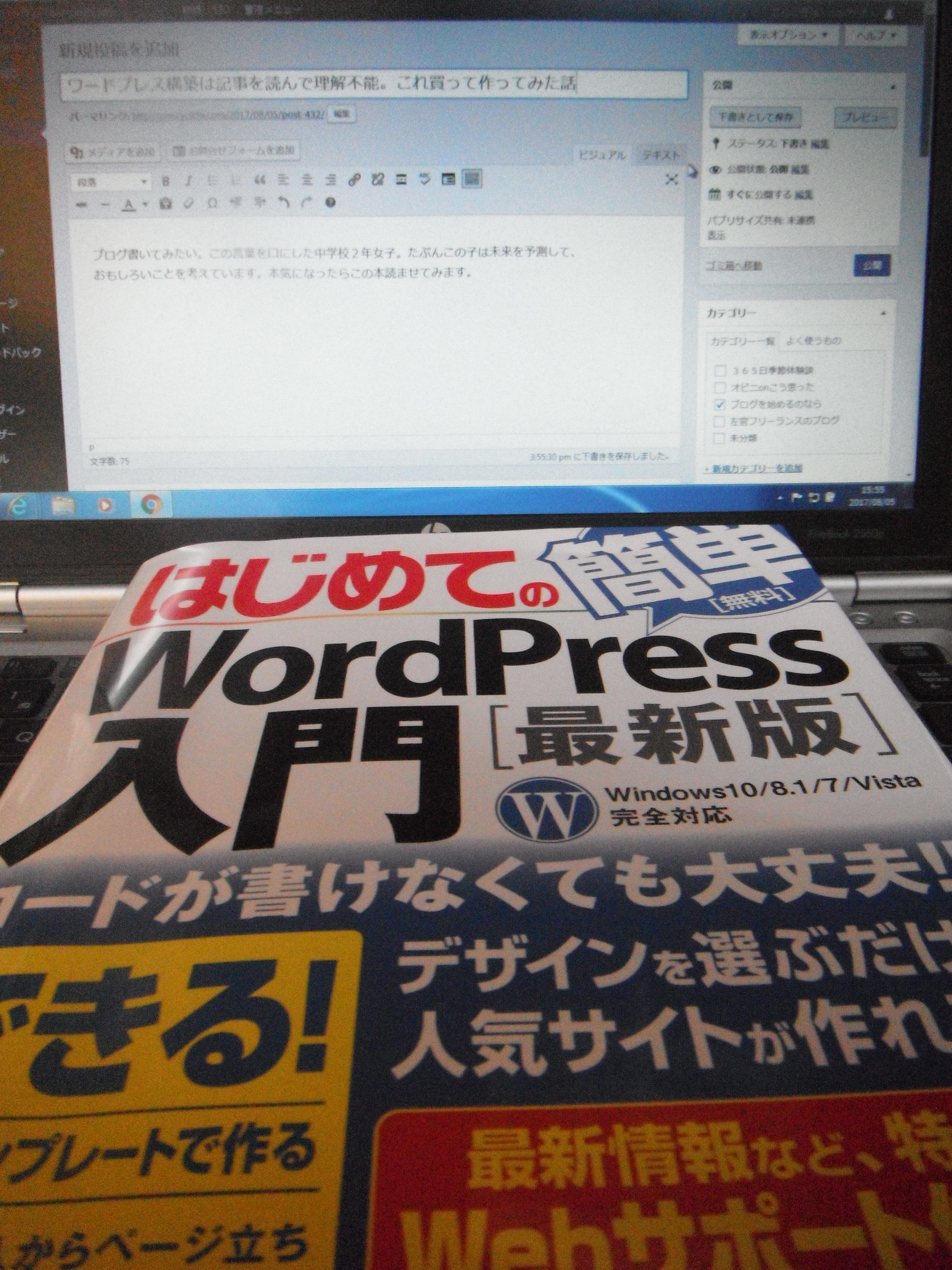 ワードプレス構築は記事を読んで理解不能。これ買って作ってみた話