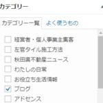 雑記ブログカテゴリー名は新ブログの名前としても使えるので便利です